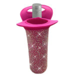 Bottle cooler - hot pink