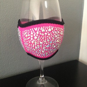 Wine Glass Cooler - Large Pink