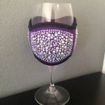 Wine Glass Cooler- Large Purple