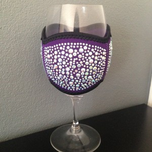 Wine Glass Cooler- Large Purple