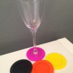 Stemware Coasters set of 4 'Onyx'