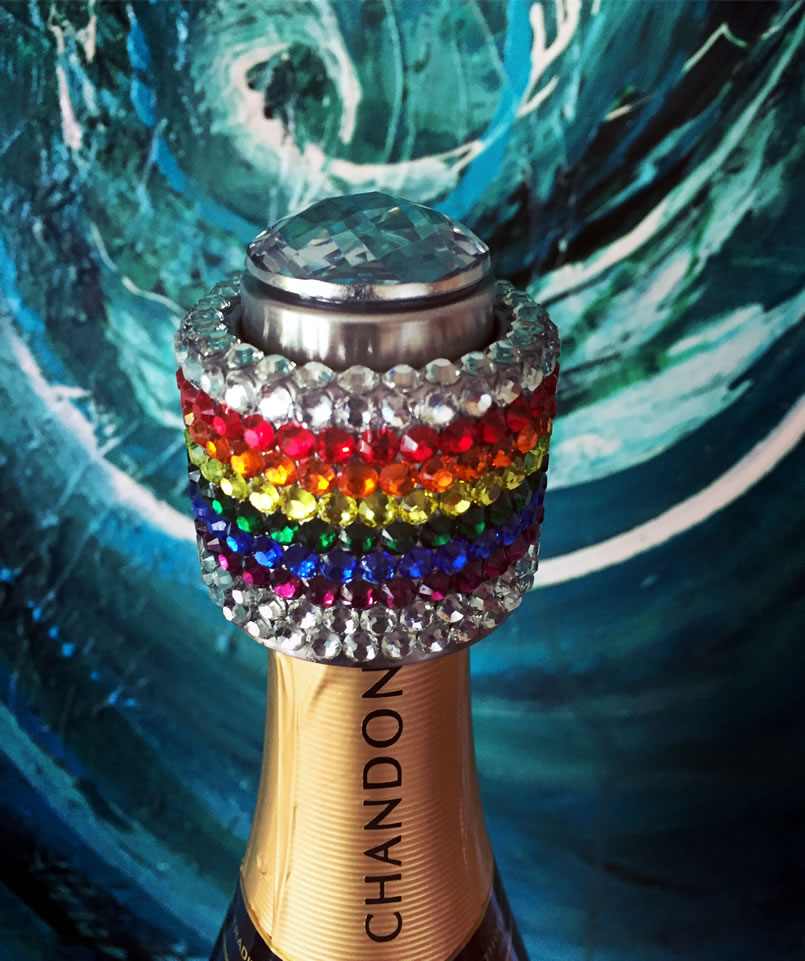 rainbow wine popper