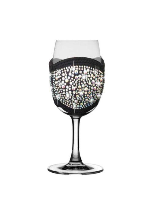 Black-bling-Champagne-tasting-glass-cooler