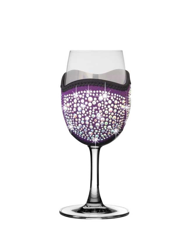 Purple-diamonte-champagne-tasting-glass-cooler